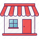 building, city, market, outlet, sell, store icon