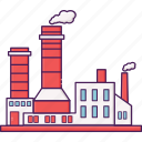 building, city, factory, industrial, industry