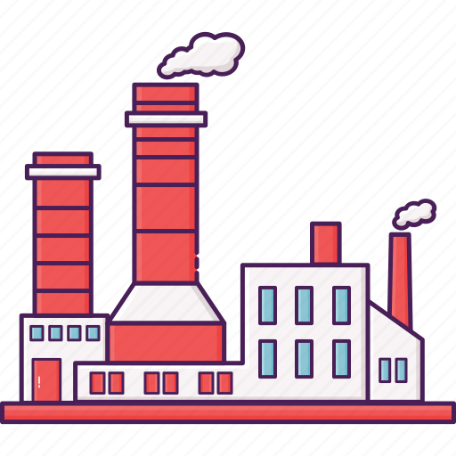 building, city, factory, industrial, industry icon
