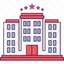 acomodation, building, city, hotel, travel icon