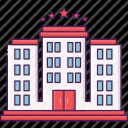 acomodation, building, city, hotel, travel icon