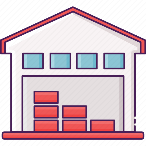 manufacture, storage, storehouse, warehouse icon