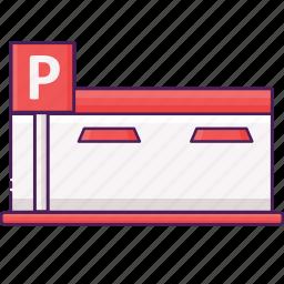 car, city, lot, park, parking, stop icon