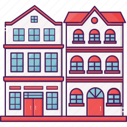 house, resident, residential, town, townhouse icon