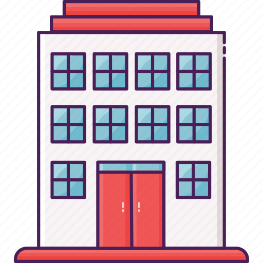 apartment, buidling, city, house, resident, residential icon
