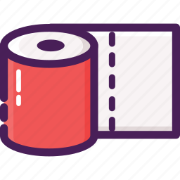 bathroom, cleaning service, hygiene, paper, roll, tissue, toilet icon
