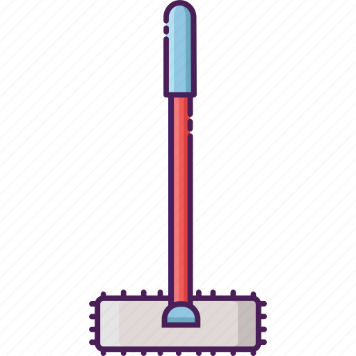 broom, clean, cleaning service, home equipment, stick, wall duster icon
