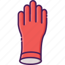 cleaning service, hand, hand glove, protection, rubber, safety icon