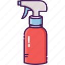 bottle, cleaning service, garden, mist fluids, spray bottle icon