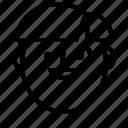 avatar, emotion, face, head, man, smile icon