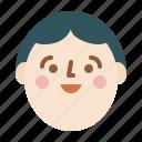 avatar, boy, face, head, profile, smile icon