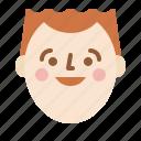 face, head, man, smile icon
