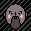 emotion, face, guy, profile, smile icon