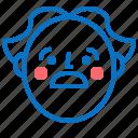 avatar, boy, face, head, old, profile, smile icon