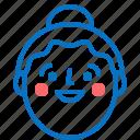 avatar, emotion, female, girl, profile, smile icon