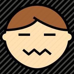 avatar, emoji, emotion, face, feeling, nervou icon
