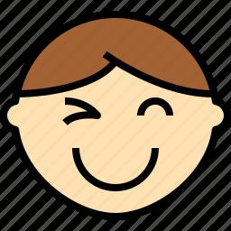 avatar, emoji, emotion, face, feeling, smile icon