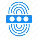 access, biometry, dactyl, data, finger, password icon