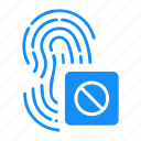 access, biometry, dactyl, data, finger icon