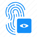 access, biometry, dactyl, eye, finger icon