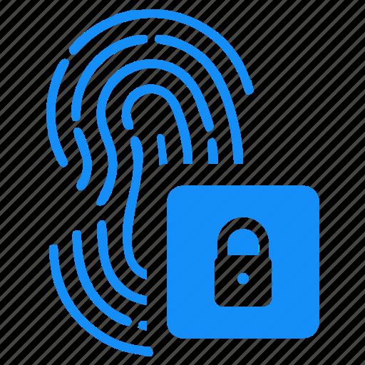 access, biometry, data, finger, lock icon