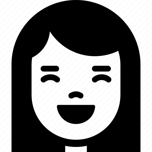 Emotion, face, girl, happy, laugh, smile, woman icon - Download on Iconfinder