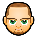 man, avatar, green eyes
