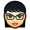 girl, woman, lady, avatar, glasses, short hair, black hair