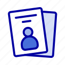 card, id, pass icon