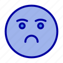 emoji, emotion, feeling, sad icon