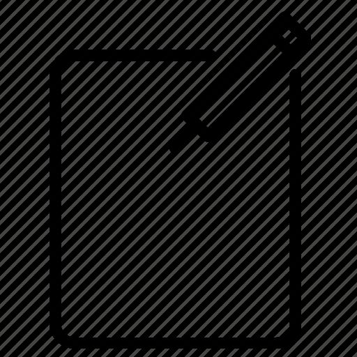facebook, line, write, writing icon