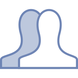 all, facebook, friends icon