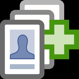 add, facebook, finder, friend icon
