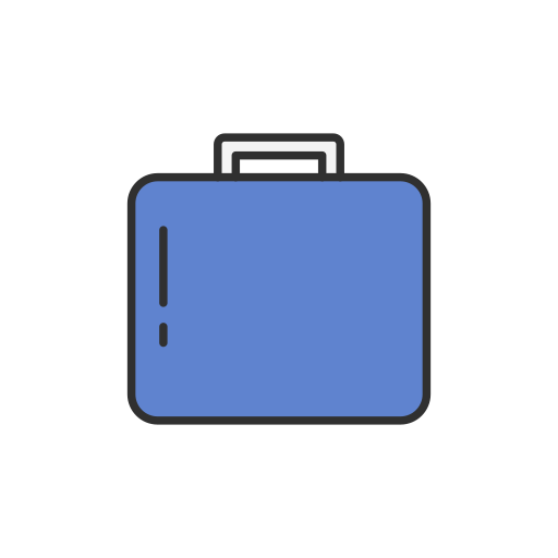 briefcase, facebook, suitcase, work icon