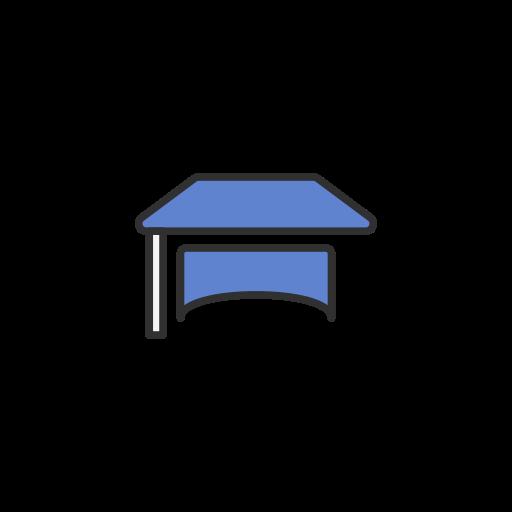 facebook, fb, graduate cap, school icon