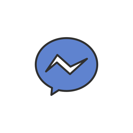 chat, facebook, message, messenger icon