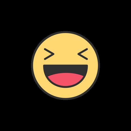 emoji, facebook, laughing emoji, reaction icon