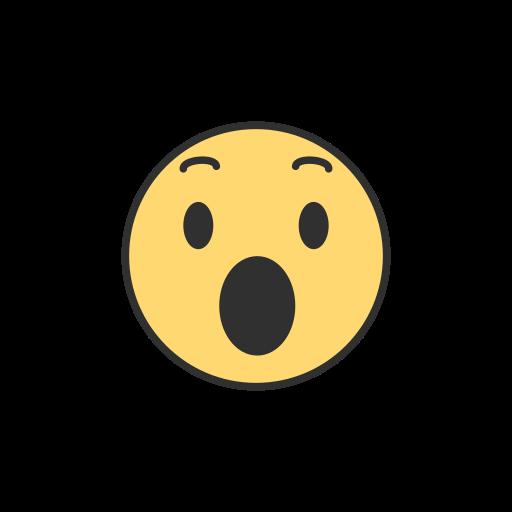 emoji, facebook, reaction, shocked emoji icon
