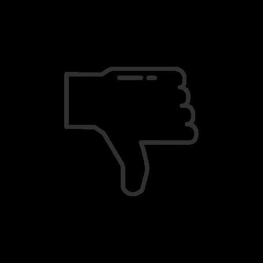 dislike, facebook, fb, thumbs down icon