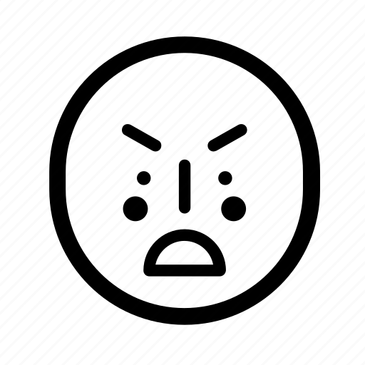 angry, mad, upset icon