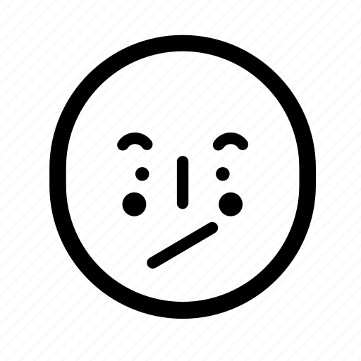 daily, face, meh, mood icon