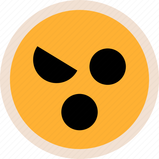 evil, face, mouth icon