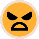 evil, face, sad icon