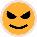 evil, face, smile icon