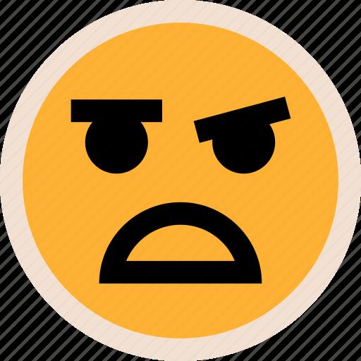 face, sad, so icon