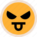 bully, emotion, funny icon