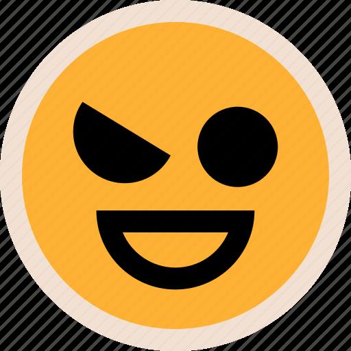 emotion, eye, happy icon