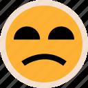emotion, faces, sad, so icon