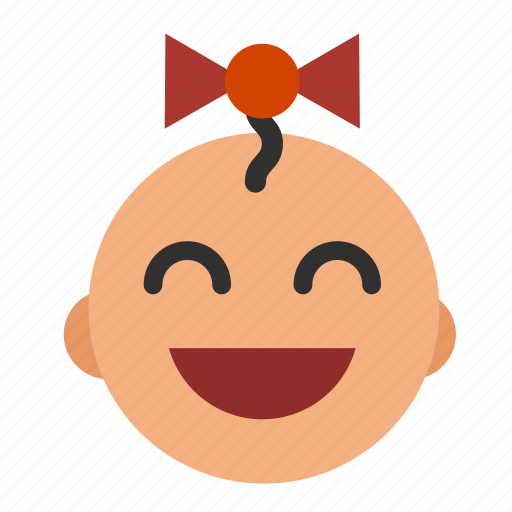 asian, baby, face, girl icon