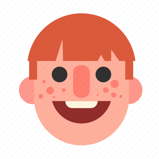face, ginger, head, male, man, redhead, white icon
